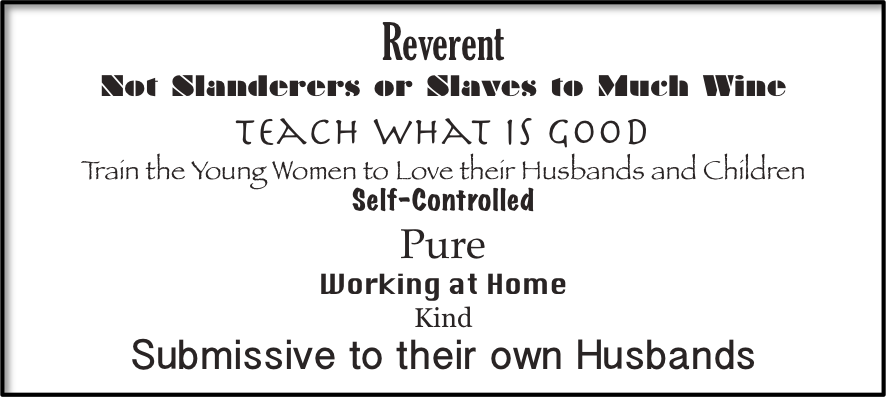 Titus 2 Women